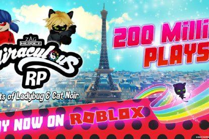Toya recauda $ 4 millones después de que Miraculous Ladybug cruza 200 millones de jugadas en Roblox
